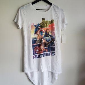 NWT Avengers High Low Shirt
